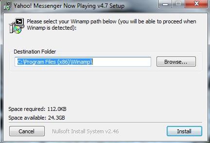 Instalasi Aplikasi YM Nowplaying